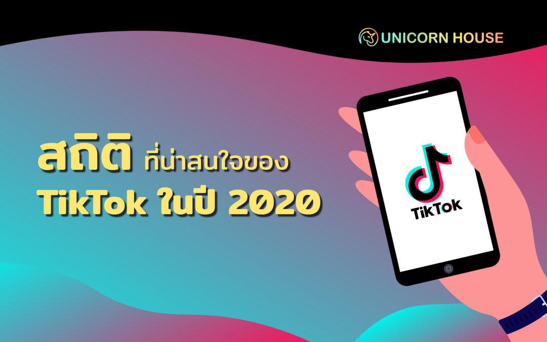 สถิติที่น่าสนใจของ TikTok ในปี 2020